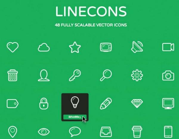 Linecons-Gratis-Untuk-Mobile-Interface