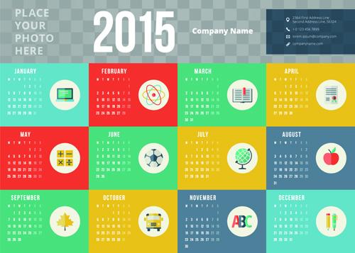 5 Vector Design Kalender 2015 Keren