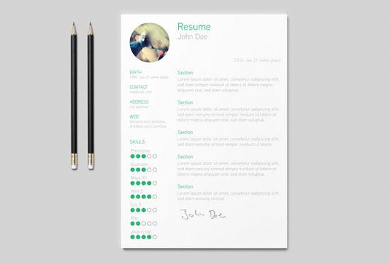 13 Desain Template Resume Atau Curriculum Vitae Gratis Siap Pakai