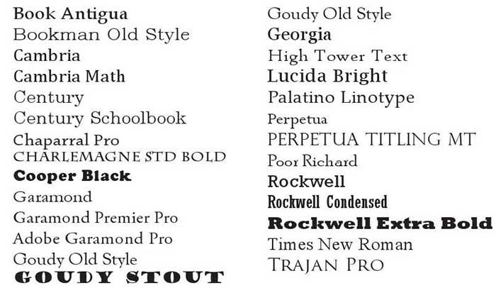jenis-jenis-font-serif