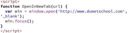 Open In New Tab URL dengan Javascript