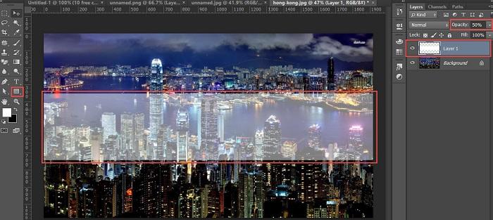 Membuat Teks Transparan Pada Gambar Dengan Photoshop