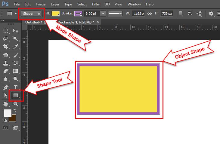 Cara Mudah Menggabungkan 2 Shape Dalam 1 Layer Di Photoshop