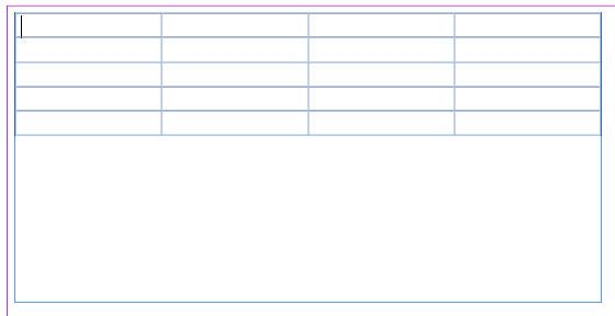 Cara membuat Table di Adobe InDesign