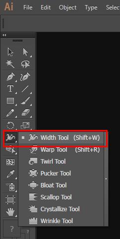 Penjelasan Tentang Width Tool pada Adobe Illustrator