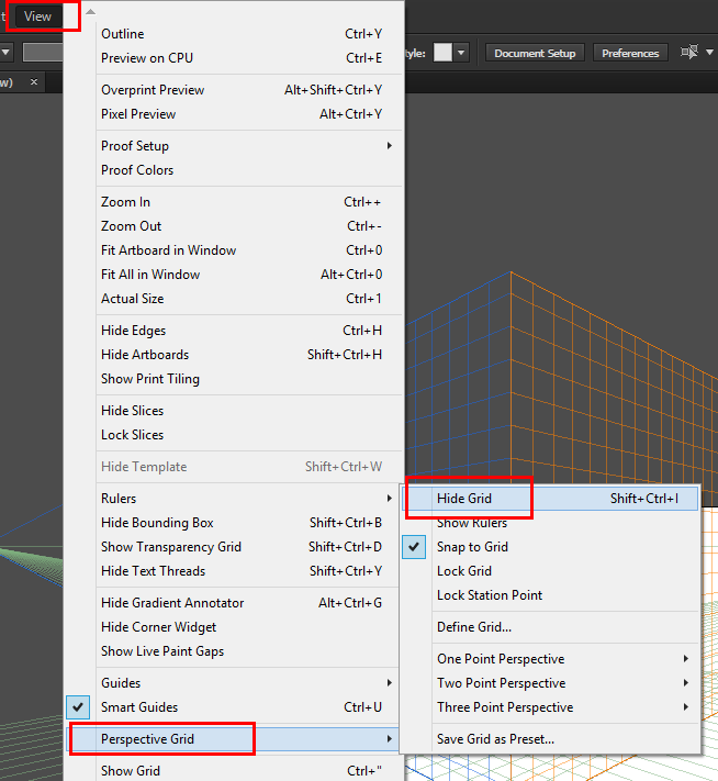 Menghilangkan Perspektif Grid Tool Di Adobe Illustrator