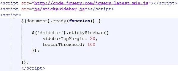 Membuat-Sidebar-fixed-dengan-jQuery