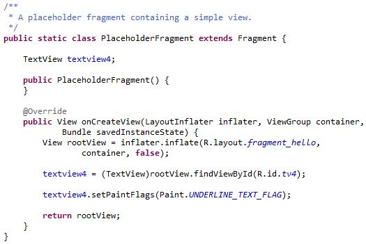 Membuat TextView Menjadi Underline di Android