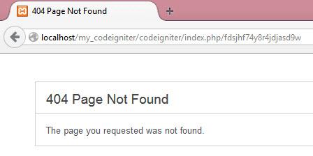 Membuat Halaman Error 404 Pada CodeIgniter