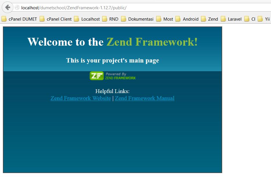 Cara Install Zend Framework 1