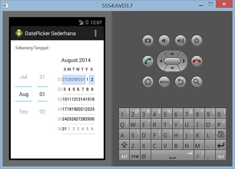 Cara Membuat DatePicker Sederhana di Android