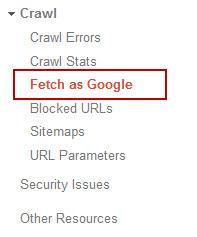 Fetch as Google, SEO