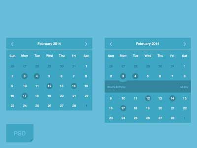 Free Download Kalender Psd Template