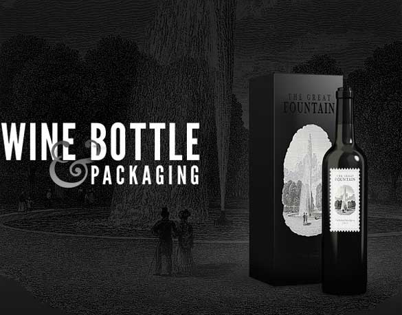 Free Wine Bottles Mock Up