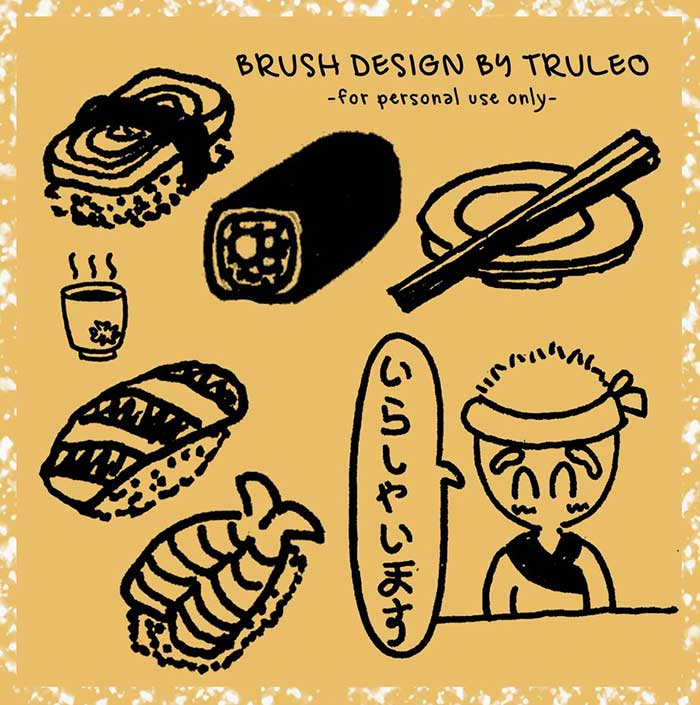 Free-Download-Sushi-Doodle-Brush