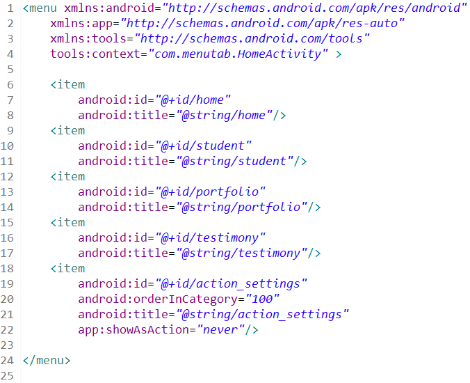 Membuat Android Menu Fragment