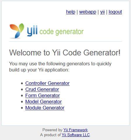 Membuat CRUD di Yii Framework Dengan Gii