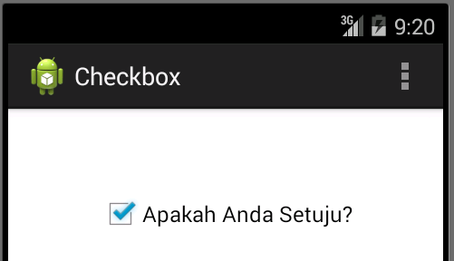 Membuat Checkbox di Android