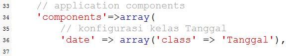 Membuat Component di Yii Framework