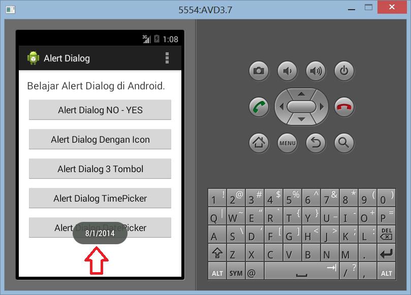 Membuat DatePicker Dengan Alert Dialog di Android