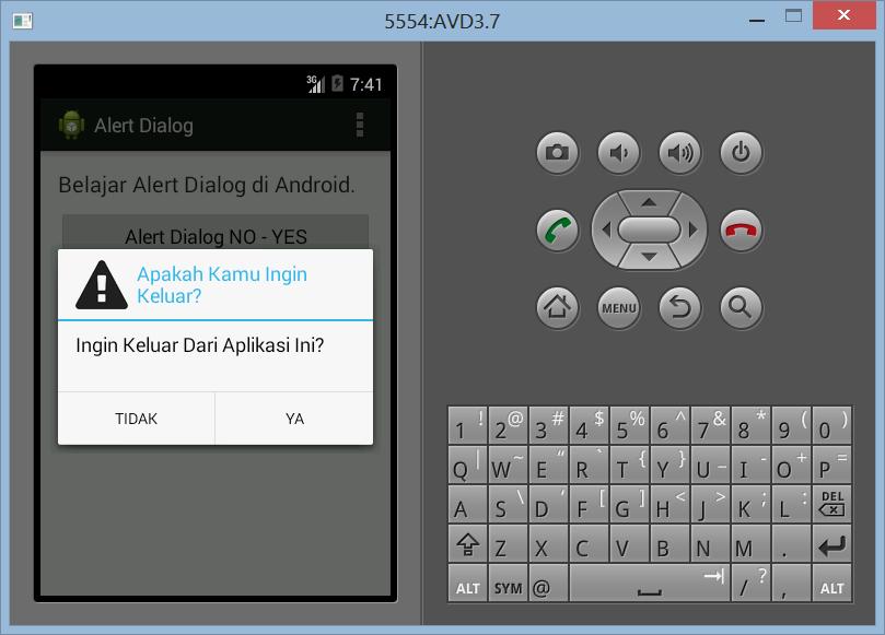 Membuat Dialog Alert Dengan Icon di Android