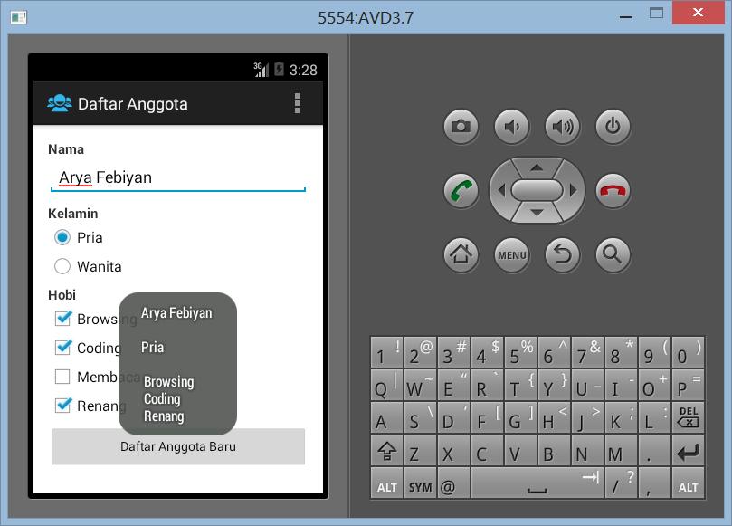 Membuat Form Pendaftaran di Android