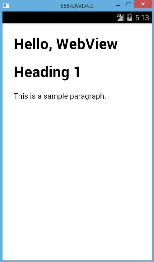 Membuat HTML di Android