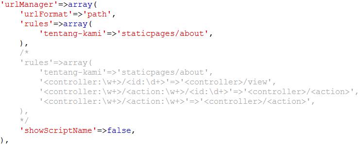 Membuat Halaman Statis di Yii Framework