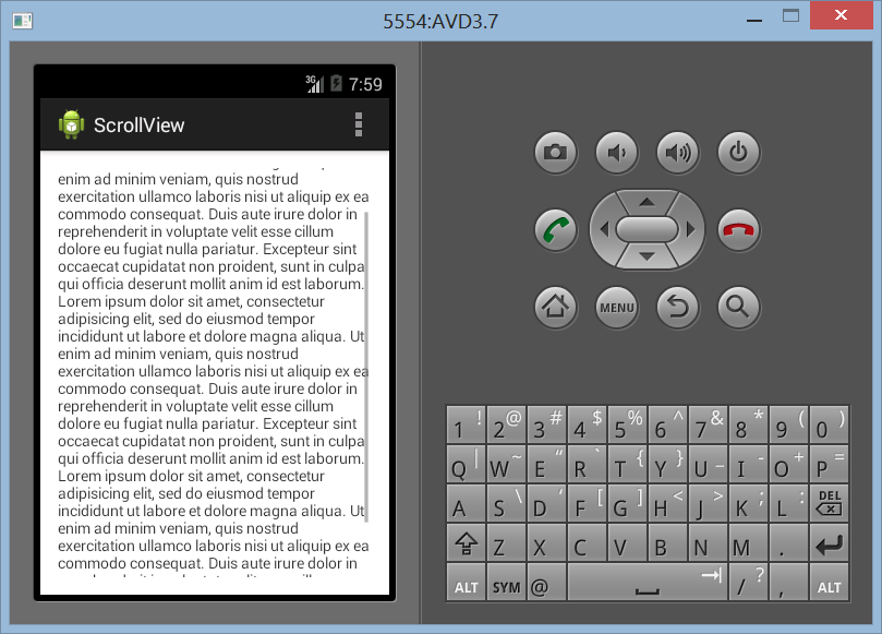 Membuat Layout ScrollView di Android