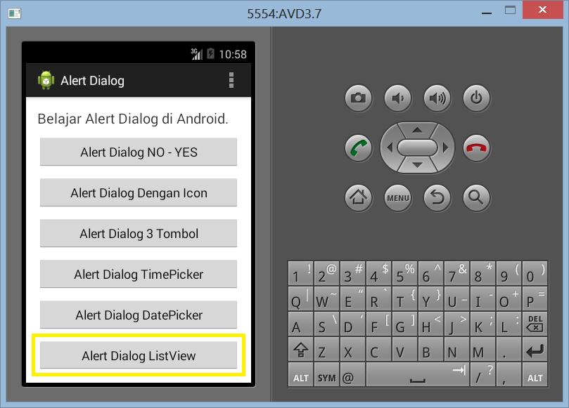 Membuat ListView Dengan Alert Dialog di Android
