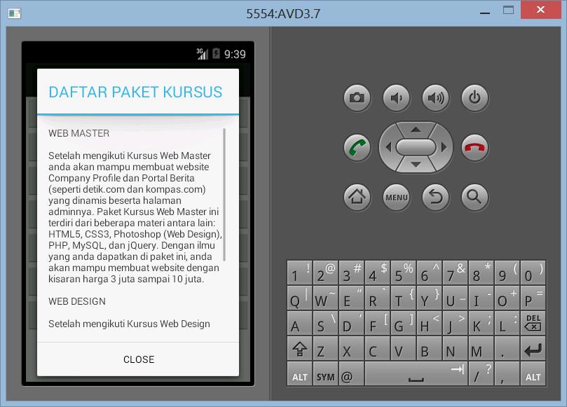 Membuat ScrollView Dengan Alert Dialog di Android