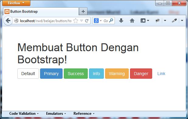 Membuat Button Dengan Bootstrap