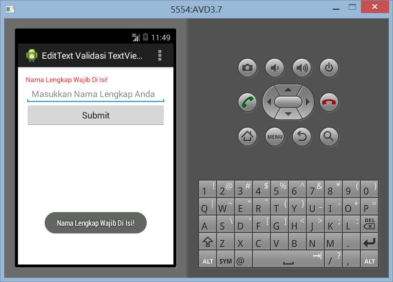 Menampilkan Pesan Error Dengan TextView di Android