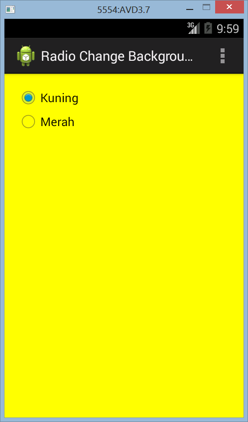 Mengganti Warna Background Dengan RadioButton di Android