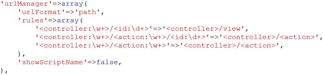Menyembunyikan Index PHP di Yii Framework