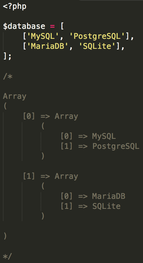 Array PHP 5.5