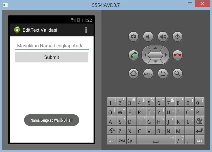 Validasi EditText Sederhana di Android