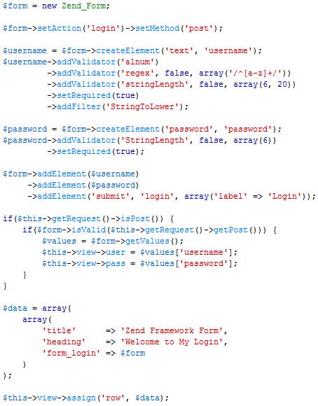 Membuat Zend Form di Zend Framework 1