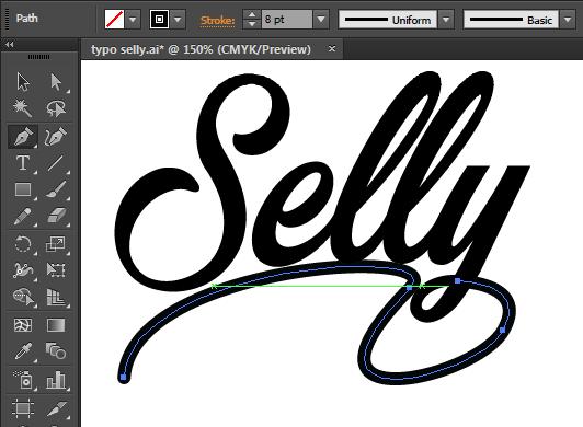 cara mendesain font dengan bagus dan menarik di adobe illustrator dprasetyo 112116 2