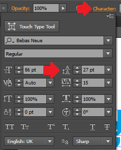 Cara mengatur leading dan tracking pada adobe illustrator