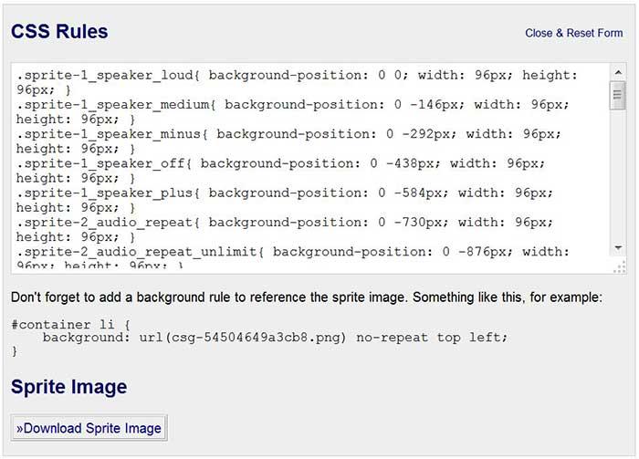CSS-Sprite-Image-Generator
