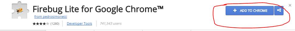 menginstall firebug pada google chrome