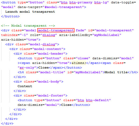 Cara Membuat Background Modal Bootstrap Transparan