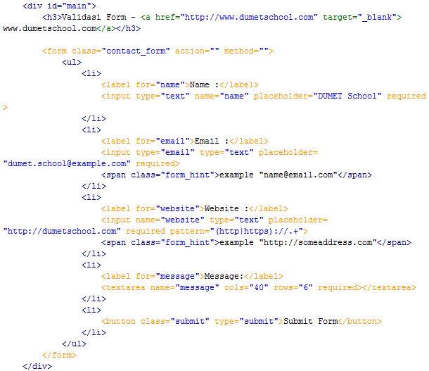 Membuat Validasi Form Menggunakan HTML Dan CSS