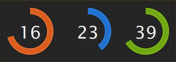 jquery-colorful-clock
