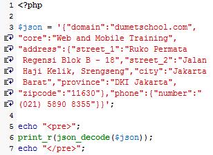 Dasar Menggunakan JSON di PHP