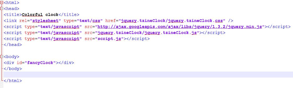 cara membuat colorful clock dengan mudah
