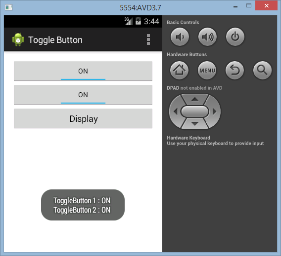 Membuat ToogleButton di Android