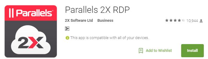 parallels remote desktop