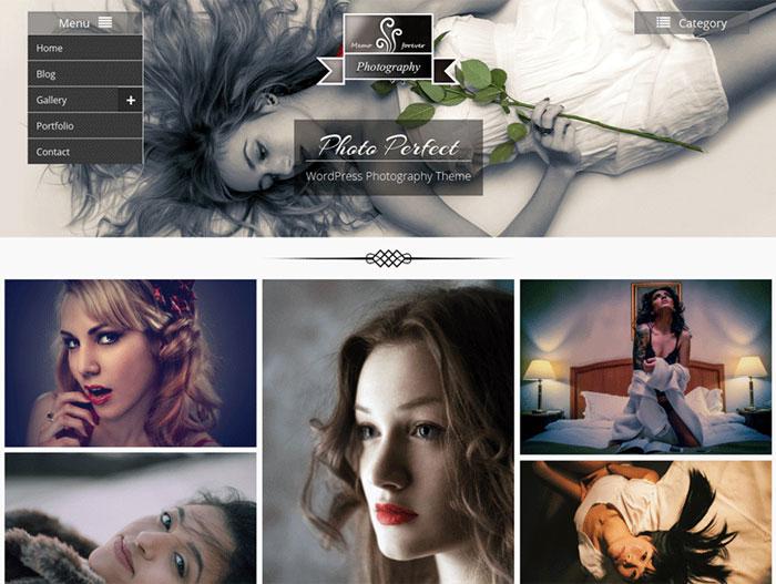 Download Gratis Template WordPress Photo Perfect
